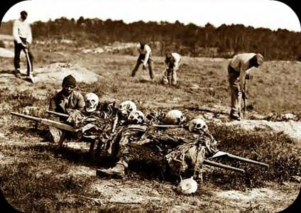 Preparing skeletons for proper burial
